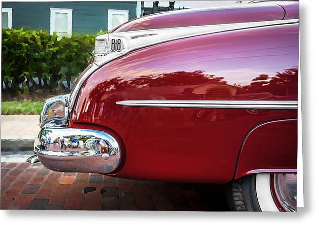 Kustom Greeting Cards - Oldsmobile 88 Futurmatic Coupe  Greeting Card by Rich Franco