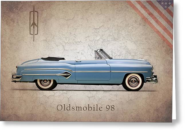 Transportation Greeting Cards - Oldsmobile 98 1951 Greeting Card by Mark Rogan