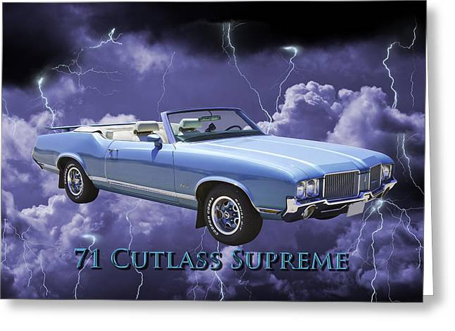 Motor Vehicles Greeting Cards - Oldsmobile Cutlass Supreme Muscle Car Greeting Card by Keith Webber Jr