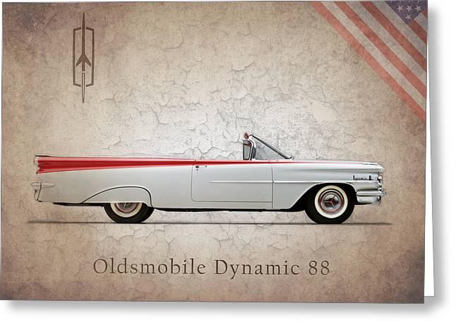 Oldsmobile Greeting Cards - Oldsmobile Dynamic 88 1959 Greeting Card by Mark Rogan