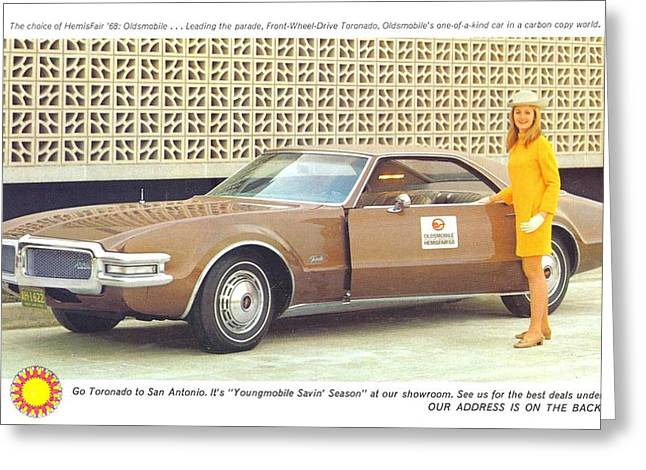 Out-dated Greeting Cards - Oldsmobile Front Wheel Drive Toronado Greeting Card by Kip DeVore