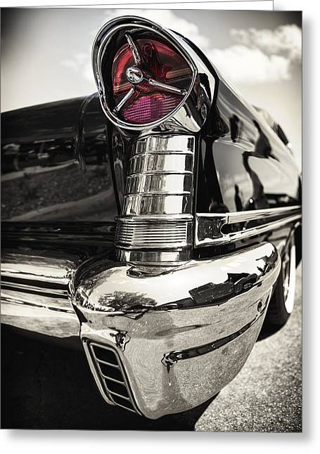 Stainless Steel Greeting Cards - Oldsmobile Steel Greeting Card by Caitlyn  Grasso