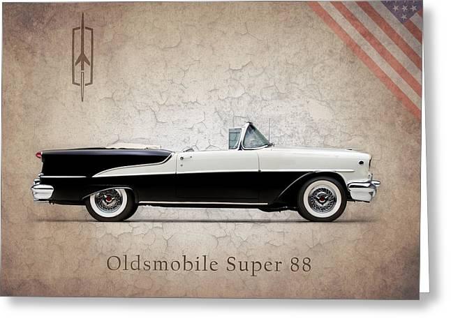 Oldsmobile Greeting Cards - Oldsmobile Super 88 1955 Greeting Card by Mark Rogan