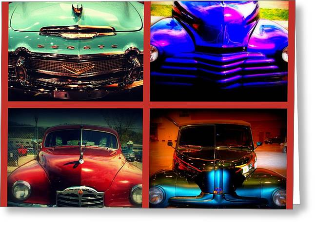 Auction Greeting Cards - Oldtimer Collage Greeting Card by Susanne Van Hulst