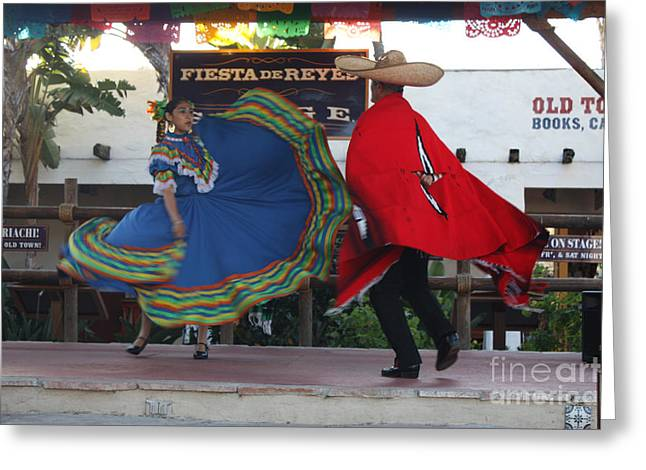 Mexican Dancing Greeting Cards - Ole Greeting Card by John Telfer