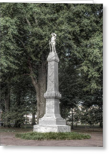 Joshua House Greeting Cards - Ole Miss Confederate Statue Greeting Card by Joshua House