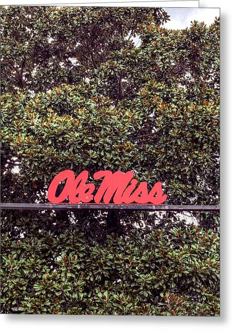 Sec Photographs Greeting Cards - Ole Miss Greeting Card by JC Findley