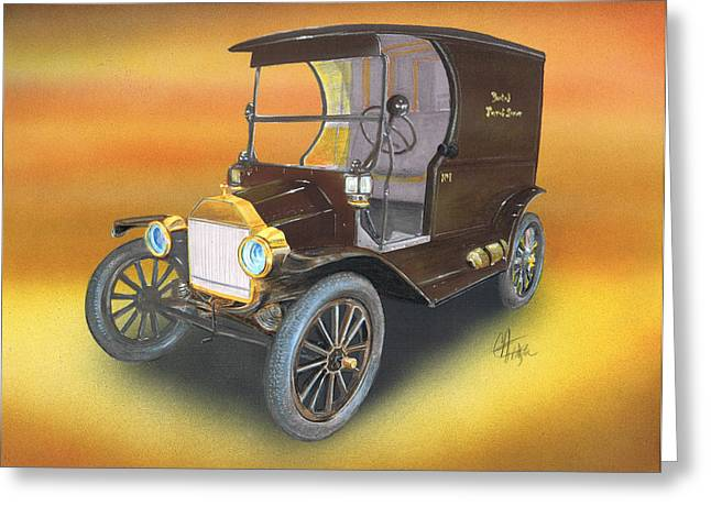 Ford Brown Print Greeting Cards - Ole No 1 Greeting Card by Chris Fraser