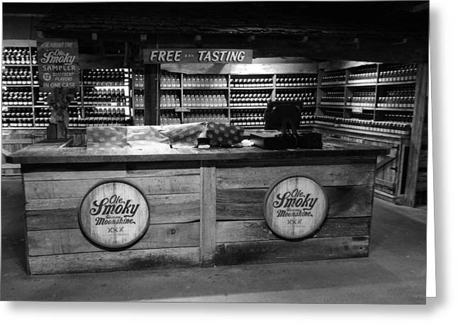 Photography Of Liquor Greeting Cards - Ole Smoky Moonshine Gatlinburg Greeting Card by Dan Sproul