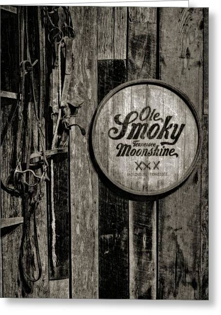 Photography Of Liquor Greeting Cards - Ole Smoky Tennessee Moonshine Greeting Card by Dan Sproul