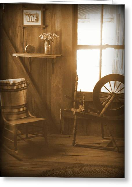 Pioneer Homes Digital Greeting Cards - Ole Time Living 1 Greeting Card by Sheri McLeroy