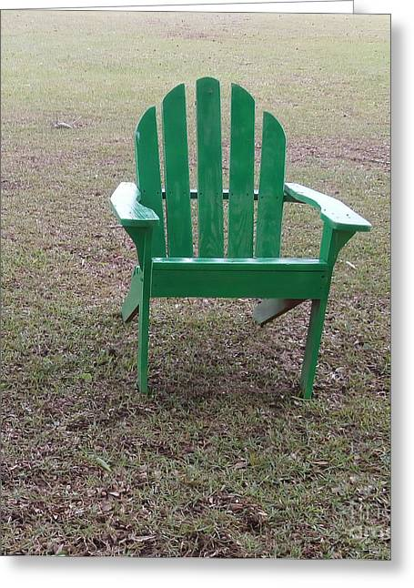 Lawn Chair Greeting Cards - Ole Weathered Chair Greeting Card by Joseph Baril