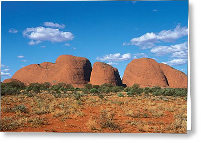 Red Dirt Greeting Cards - Olgas Australia Greeting Card by Panoramic Images