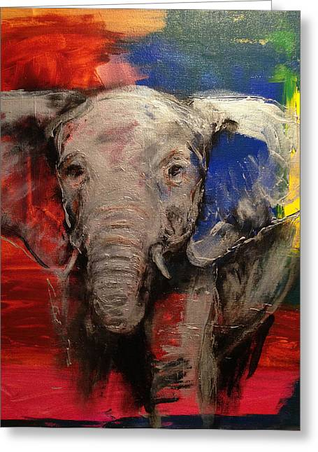 Anti Greeting Cards - Olifant Greeting Card by Cathleen Klibanoff