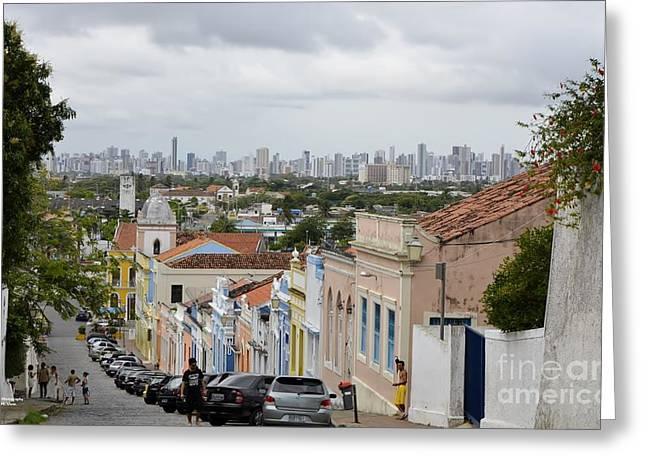 Alto Pyrography Greeting Cards - Olinda Recife View Greeting Card by Adelmo Leite de Sa