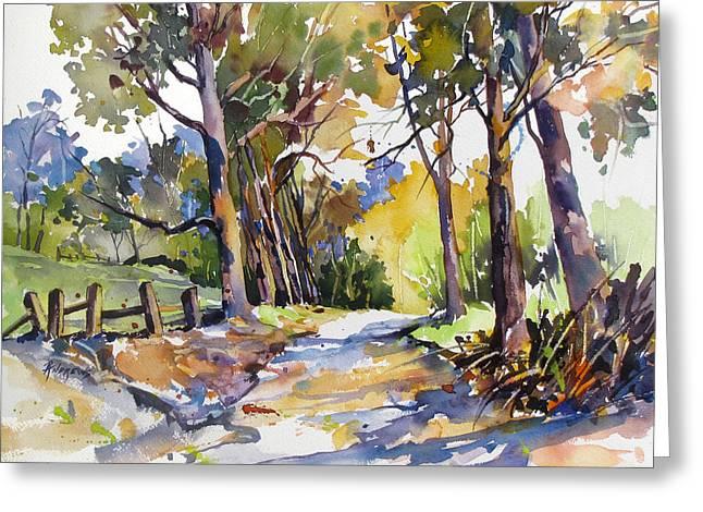 Olinda Trees Maui Greeting Card by Rae Andrews