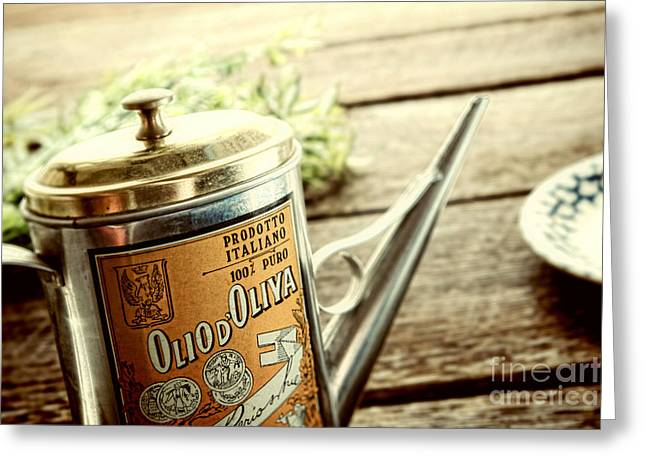 Olives Photographs Greeting Cards - Olio dOliva  Greeting Card by Olivier Le Queinec
