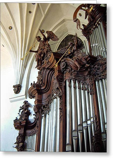 Oliva Cathedral Organ Greeting Card by Jenny Setchell