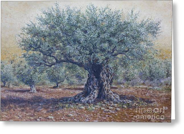 Olive In The Summer  Greeting Card by Miki Karni
