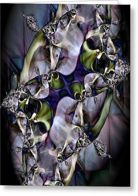 Abstract Montage Greeting Cards - Olive Greeting Card by Ron Bissett