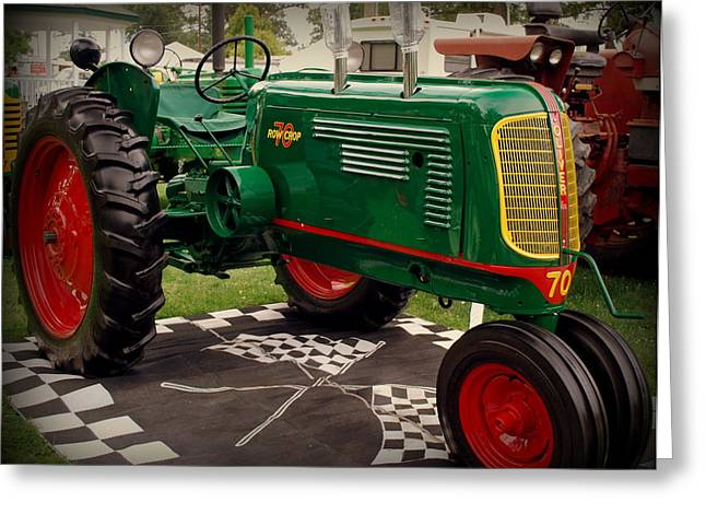 Oliver 70 Row Crop Greeting Card by Scott Polley