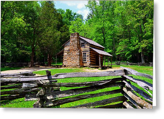 Oliver Cabin 1820s Greeting Card by David Lee Thompson