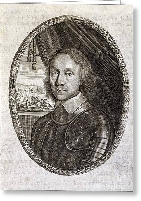 1656 Greeting Cards - Oliver Cromwell, English Politician Greeting Card by British Library