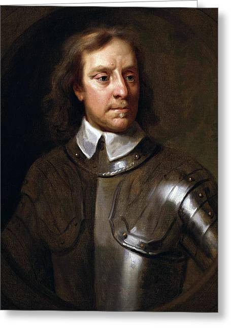 Samuel Greeting Cards - Oliver Cromwell Greeting Card by War Is Hell Store