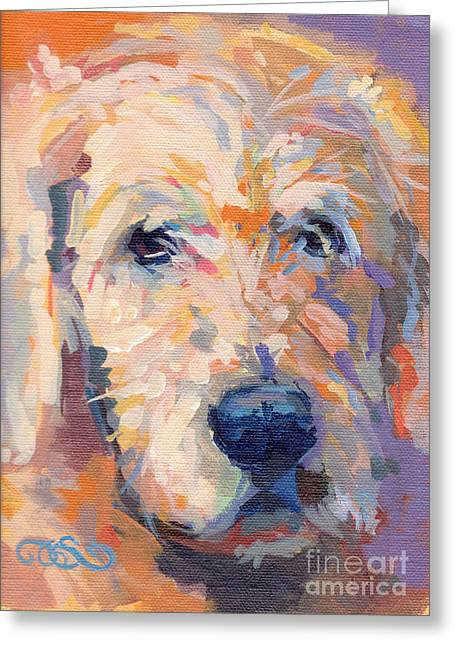 Oliver Greeting Card by Kimberly Santini