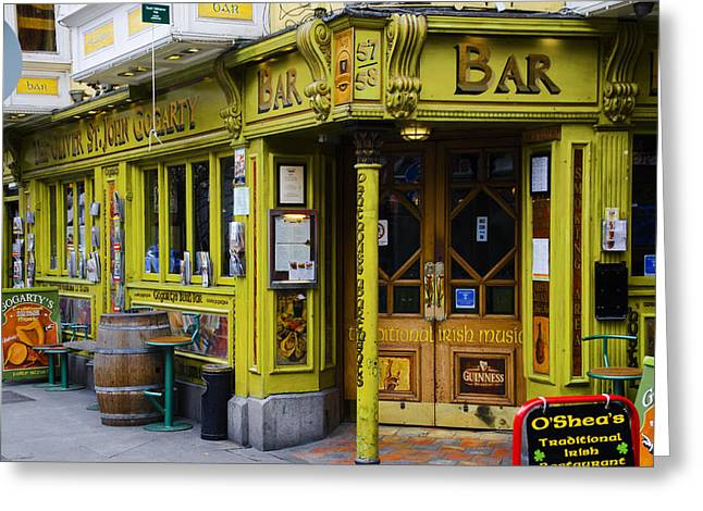 Oliver Greeting Cards - Oliver St John Gogarty Temple Bar - Dublin Ireland Greeting Card by Bill Cannon