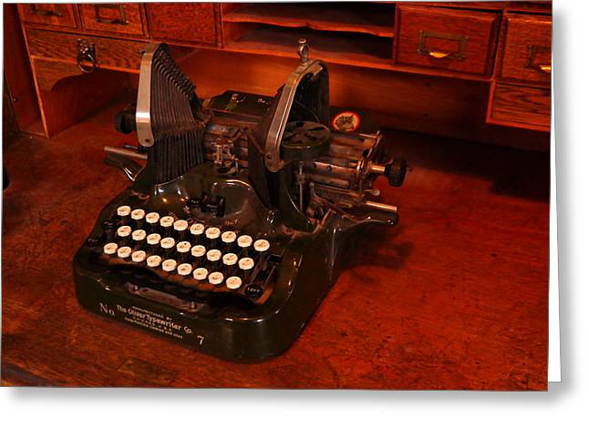 Typewriter Keys Greeting Cards - Oliver Typewriter Greeting Card by Jeff  Swan