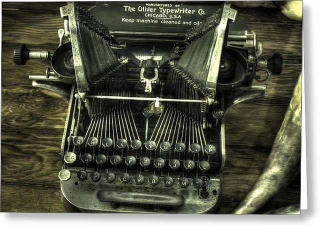 Manual Greeting Cards - Oliver Typewriter v1 Greeting Card by John Straton