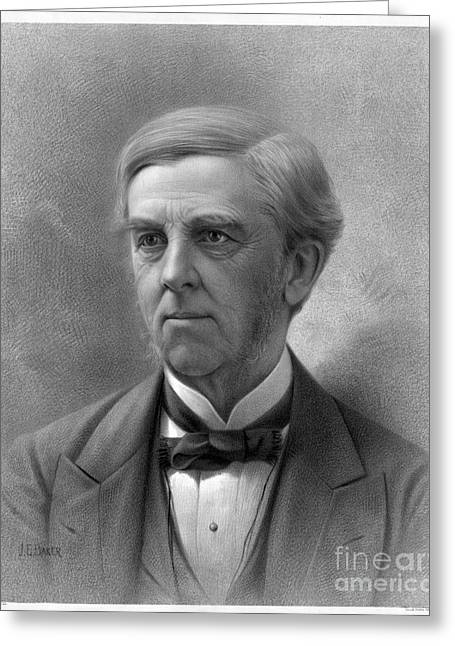 Bowtie Greeting Cards - Oliver Wendell Holmes (1809-1894) Greeting Card by Granger