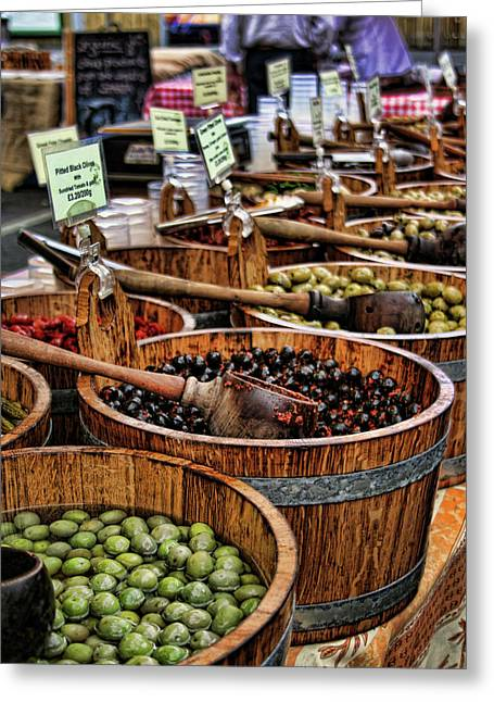 Olives Photographs Greeting Cards - Olives Greeting Card by Heather Applegate