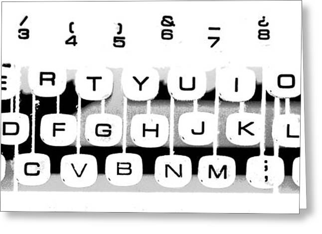 Typewriter Mixed Media Greeting Cards - Olivetti keyboard buttons Greeting Card by Gina Dsgn