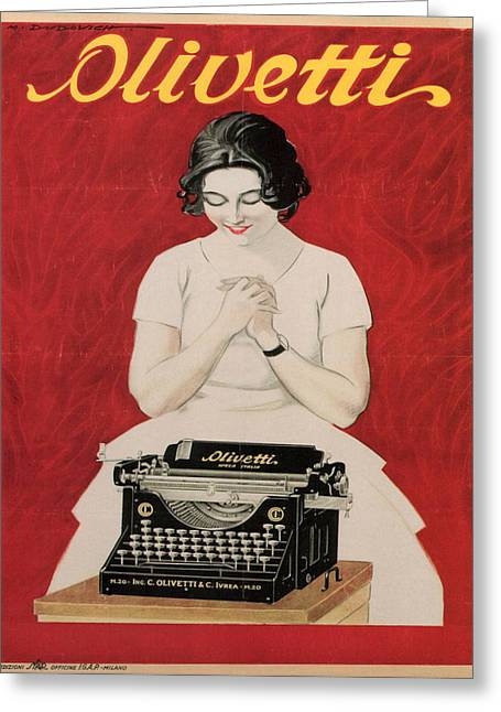Typewriter Greeting Cards - Olivetti Greeting Card by Nomad Art And  Design