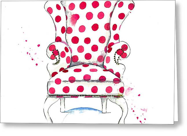 Olivia Chair Greeting Card by Roleen  Senic