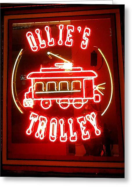 Ollie Greeting Cards - Ollies Trolley				 Greeting Card by Christopher Kerby