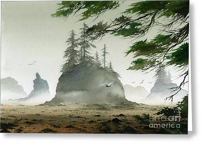 Stacks Framed Prints Greeting Cards - Olympic Coast Sea Stacks Greeting Card by James Williamson