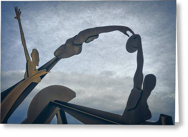 Barceloneta Greeting Cards - Olympic Sculpture Greeting Card by Joan Carroll