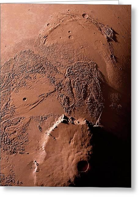 Olympus Mons Greeting Card by Detlev Van Ravenswaay