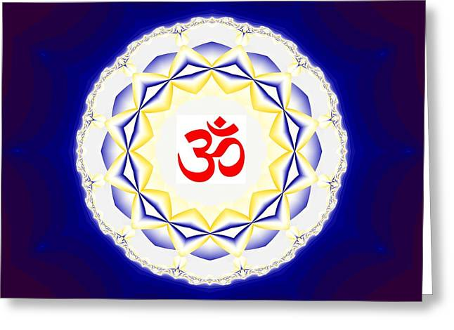 Hindu Goddess Greeting Cards - Om Series - 35 Greeting Card by M Rao