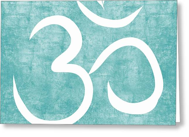 Om Sky Greeting Card by Linda Woods