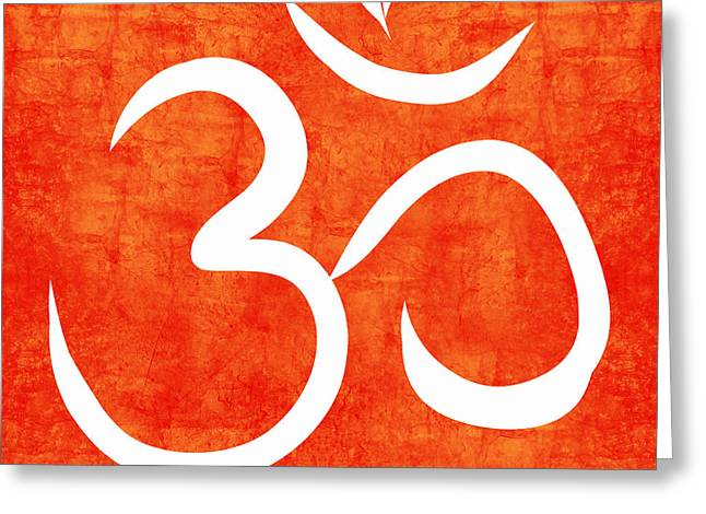 Health Greeting Cards - Om Spice Greeting Card by Linda Woods