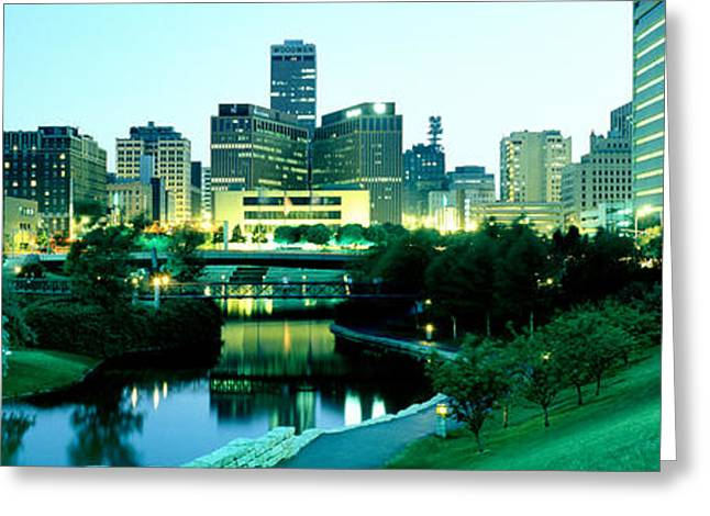 Highrises Greeting Cards - Omaha Ne Greeting Card by Panoramic Images