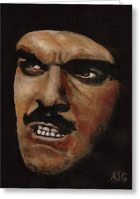 Omar Sharif Greeting Cards - Omar Greeting Card by Allen Graham
