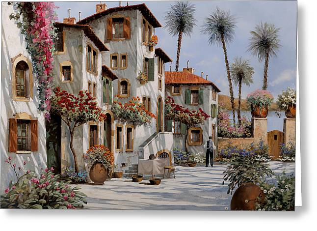 Shadows Greeting Cards - Ombre Al Pomeriggio Greeting Card by Guido Borelli