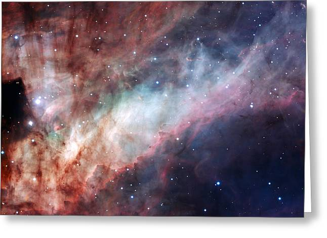 Planetary Mixed Media Greeting Cards - Omega Nebula Greeting Card by L Brown