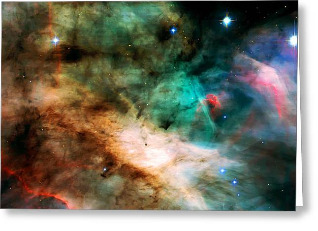 Nebula Cloud Greeting Cards - Omega Swan Nebula 2 Greeting Card by The  Vault - Jennifer Rondinelli Reilly