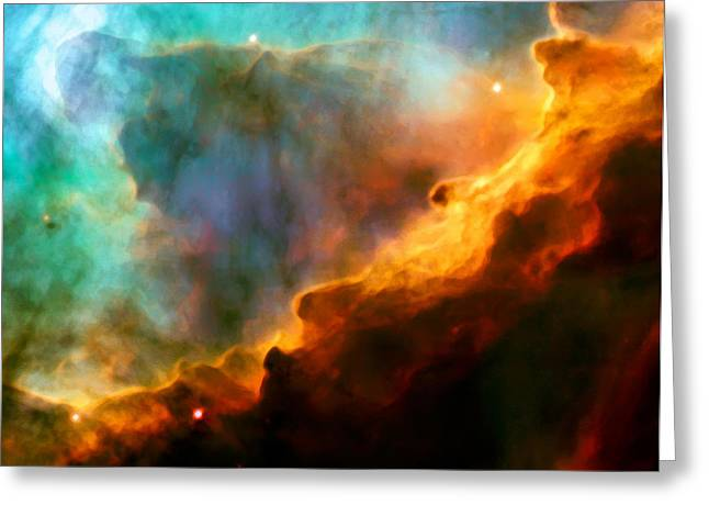 Deep Space Greeting Cards - Omega Swan Nebula 3 Greeting Card by The  Vault - Jennifer Rondinelli Reilly